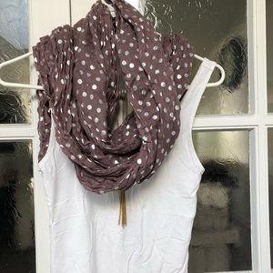 Purple scarf